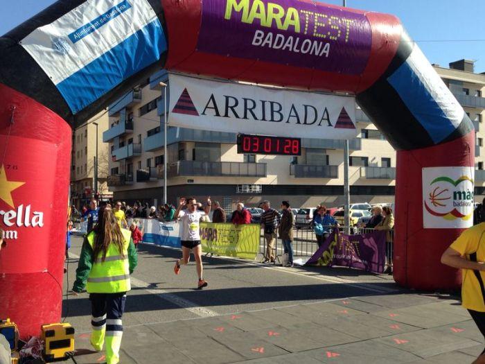 Llegada Maratest Badalona 2014