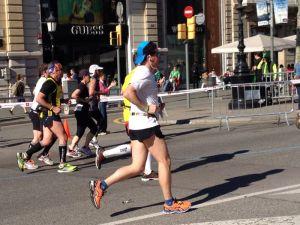 En el Km 14 de la Maratón de Barcelona 2014