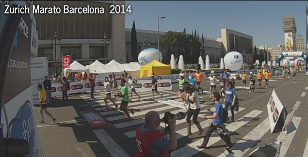 Llegada meta Maraton BCN 2014