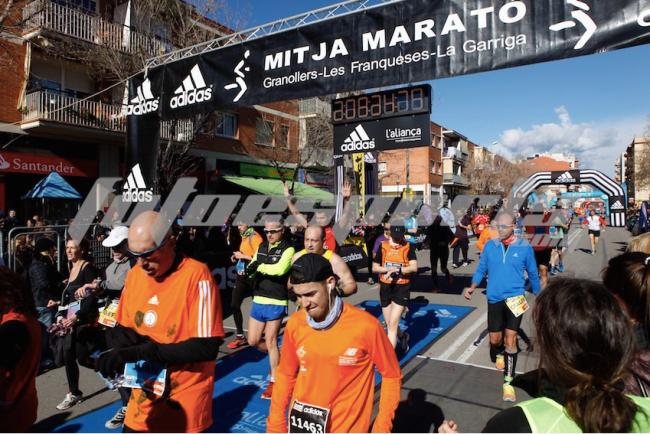 Foto llegada Mitja Marató Granollers