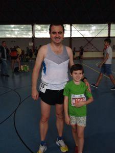 Con Pedro antes de la Cursa Delta Prat